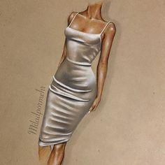 Fashion Drawing Tutorial, Fashion Figure Drawing, Fashion Drawing Dresses, Fashion Illustration Dresses, Fashion Illustration Tutorial, Illustration Art, Fashion Design Sketchbook, Fashion Design Drawings, Fashion Sketches