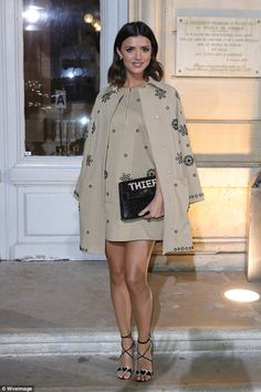 TOWIE's Lucy Mecklenburgh oozes high-fashion at PFW show | Daily Mail Online