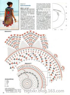 Best 12 Circular jacket or bolero….this one shows where to make the armhole placements which is what I never seem to understand – SkillOfKing. Crochet Circle Vest, Cardigan Au Crochet, Crochet Bolero, Gilet Crochet, Crochet Vest Pattern, Crochet Jacket, Crochet Diagram, Crochet Stitches Patterns, Knit Crochet