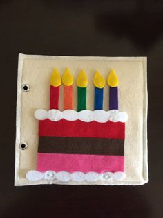 Birthday Cake Quiet Book Page by HannasQuietBooks on Etsy