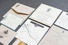 Kraft Invitation, Pastel Wedding Invitation, French Wedding Invitation, Fleur De Lis Wedding Invitation - Rachel and Adam
