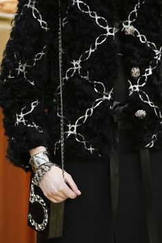 Chanel Details in Brasserie Gabrielle Autumn/Winter 2015-16 Ready To Wear Paris Fashion Week #PFW #BestLooks #KarlLagerfeld