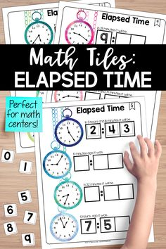 Looking for an elapsed time math center? You will love this set of math tiles. Students must place 10 number tiles on the Time to Tile cards to determine various elapsed time intervals on four analog clocks. Teaching Critical Thinking, Teaching Time, Teaching Math, Problem Based Learning, Problem Solving Skills, Instructional Technology, Instructional Strategies, 3rd Grade Math, Fourth Grade