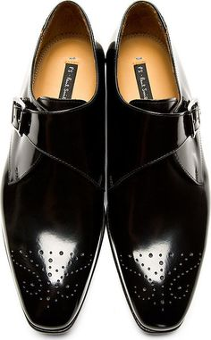 Ps by Paul Smith. Black Leather Starling Oxfords.