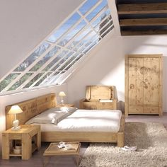 Attic converted into bright, large bedroom Furniture, Home Living Room, House, Attic Bedrooms, Home, Gorgeous Bedrooms, House Interior, Home Deco, Home And Living