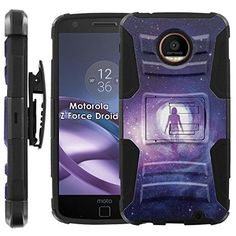 Buy Motorola Moto [Z Force] Droid Armor Case [Case86] [Black/Black] Dual Hybrid Armor Phone Case - [Astral Space] for Moto Z [Force] NEW for 13.95 USD | Reusell