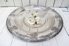 Vintage Silverplate  Platter Large Ornate Tray by Swede13 on Etsy