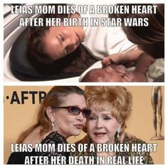 A Mother's Love. Debbie Reynolds and Carrie Fisher may they rest in peace.