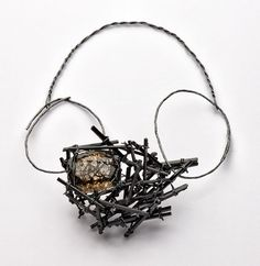 Iris Bodemer Neckpiece 2012 – Silver, tourmaline, rutilated quartz, mounting adhesive