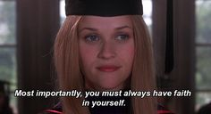 "And finally, when she gave this advice during her graduation speech. | 19 Times Elle Woods From ""Legally Blonde"" Was Downright Inspirational"