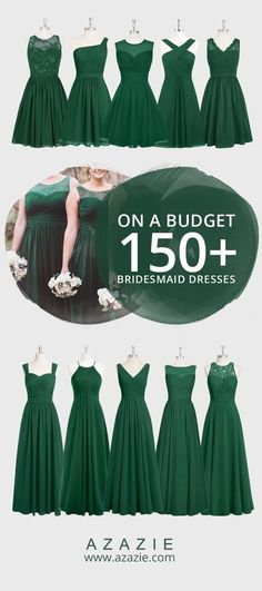 Still searching for some Fall wedding color inspiration? Go ahead and dress up your bridesmaids in Dark Green this Fall season! Like straight out of a fairy tale, this Earthy shade of green gives off an enchanted forest feel. Choose from 150 styles and l Wedding Attire, Wedding Bridesmaids, Wedding Dresses, Green Bridesmaids, Bridesmaid Outfit, Plum Bridesmaid, Trendy Wedding, Perfect Wedding, Forest Green Bridesmaid Dresses
