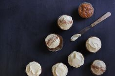 Carrot Cupcakes (Gluten Free) - Recipe from Saszali Sisters Gluten Free Baking, Gluten Free Recipes, Dessert Recipes, Desserts, Yummy Cakes, Baked Goods, Carrots, Sweet Treats, Sisters