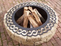 Fire Pit / Rope Fire Ring. $300.00, via Etsy.