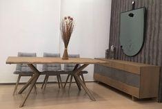 Τραπεζαρία Steel | Dining table Steel #home #homedecor #interiordesign #furniture #diningroomideas #diningroom #diningtableset #table #wood #metal #details