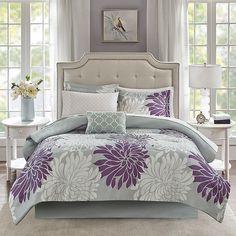 Madison Park Essentials Caldwell Aqua Comforter and Cotton Sheet Set (California King - 9 Piece), Green Purple Comforter, Full Comforter Sets, Grey Bedding, King Comforter, Luxury Bedding, Bedding Sets, Queen Bedding, Neutral Bedding, Murphy Beds