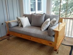 Most Beautiful Bed Porch Swing - http://www.bluelittlewolf.com/most-beautiful-bed-porch-swing/