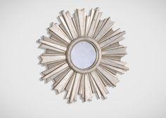 Mini Silver Starburst Mirror - Ethan Allen