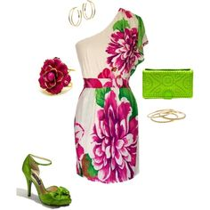 Spring Wedding Guest, created by katy-sutton on Polyvore