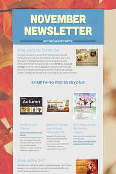November Newsletter Visit my website for all your gifting needs! www.myenchantedgifts.labellabaskets.com
