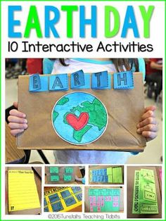 """Hands-on, engaging, interactive Earth Day science activities that will fit in a science journal or science notebook or in a 3 dimensional foldable lap book. These STEM activities on earth day activities, earth resources, soil, plants, water, recycling, good for the earth and bad for the earth are perfect kindergarten, first grade, and second grade. To learn more about """"Hands-On Science"""", visit www.tunstallsteachingtidbits.com"""