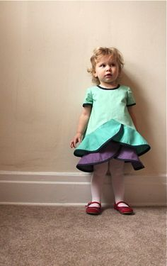 Oliver + S pinwheel dress and tunic in Easter colors!  // a little gray