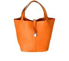 Hermes Picotin Lock Bag in Orange