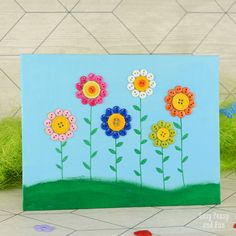 If you've got a thing for buttons (ie get them whenever possible) and want to make something simple with your kids do give this button flowers canvas craft a go! Buttons are great for mixed media art and this simple one is a great introduction craft for the kiddos. *this post contains affiliate links* So …