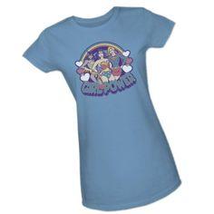 Retro Girl Power -- Batgirl - Supergirl - Wonder Woman -- DC Comics Crop Sleeve Fitted Juniors T-Shirt, Large DC Comics http://www.amazon.com/dp/B00A5O85UI/ref=cm_sw_r_pi_dp_xJ0zwb0D77KKX