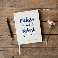 Wedding Guest Book Wedding Guestbook Custom Guest Book Personalized Customized custom design wedding gift keepsake watercolor navy blue new by starboardpress on Etsy https://www.etsy.com/listing/250268779/wedding-guest-book-wedding-guestbook