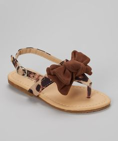 This Leopard Studded Bow Julia Sandal by QQ Girl is perfect! #zulilyfinds