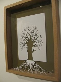I  chose another tree because unlike the drawings of the others this one has a different look and is made by cutting paper. I wanted to have multiple trees since Melinda tried making trees art in different ways throughout the whole novel.