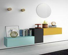 Living Room Cabinets, Living Room Tv, Wardrobe Design Bedroom, Bedroom Decor, Tv Stand Room Divider, Cool Furniture, Furniture Design, Decoration Entree, Wall Shelf Decor