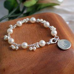 Personalized Romance Ivory Pearl Bracelet