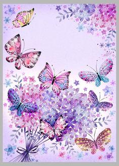 Vintage Paper Butterflies Papillons Ideas For 2019 Butterfly Painting, Butterfly Wallpaper, Butterfly Background, Butterfly Kisses, Butterfly Flowers, Purple Butterfly, Paper Butterflies, Beautiful Butterflies, Cellphone Wallpaper