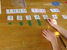Montessori Materiaal - Aanbod van werkjes. Makkelijk naar moeilijk.