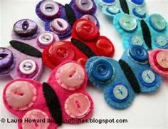 button and felt crafts