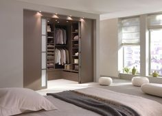 Bedroom with dressing room design - Luxery Houses Wardrobe Room, Wardrobe Design Bedroom, Master Bedroom Closet, Room Design Bedroom, Modern Wardrobe, Master Suite, Home Decor Bedroom, Modern Bedroom, Bedroom Furniture