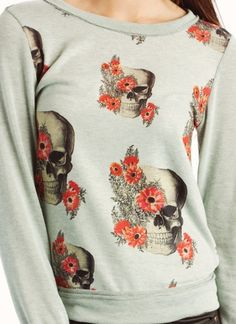 "floral skull sweater  not sure if i would buy it. it's cute tho! i just don't have that ""omg i MUST HAVE IT"" feeling for some reason."