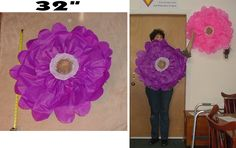 """I thought I would share how I created this wall flower which measures about 32"""" across...in other words, it's HUGE! It's fun and playful a..."""