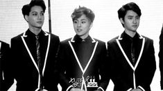 """So who's dating within the group?"" Xiumin: (looks around) ""Um...I don't know.."""
