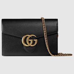 Gucci Women - GG Marmont leather mini chain bag - 401232A7M0T1000