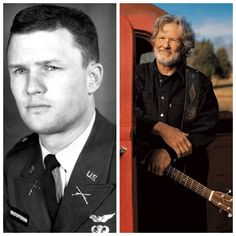 Vintage Helicopters Kris Kristofferson-Army-Captain-helicopter pilot, Ranger school-turned down teacher assignment at West Point (Musician) Famous Men, Famous Faces, Famous People, Hollywood Actor, Classic Hollywood, Hollywood Stars, Celebrities Then And Now, Young Celebrities, Celebs