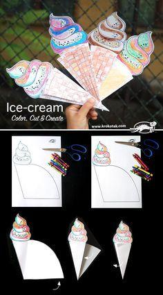 Color, Cut & Create Ice-cream