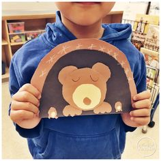 Inquiry: Animals in Winter - Part 1 - Hibernation - Inquiry: Animals in Winter – Part 1 – Hibernation – A Pinch of Kinder - Bear Crafts Preschool, Kindergarten Activities, Animals That Hibernate, Winter Crafts For Kids, Preschool Winter, Winter Activities, Classroom, January, Students