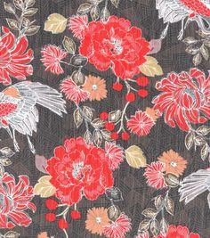 Simply Silky Prints-  Asian Flower