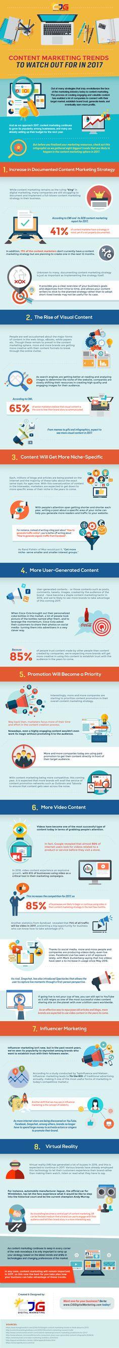 Wat ga jij doen op gebied van contentmarketing in 2017? 8 inspirerende trends #infographic