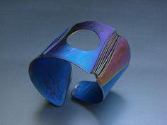 NEW Blue Moonlight Anodized Titanium Art   by MirekGomolkaJewelry, $125.00