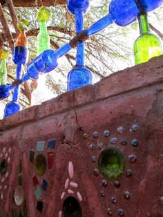Fence with bottles...love this!