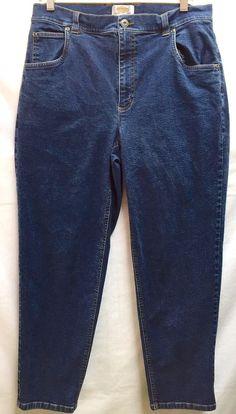 35b8c358 Talbots Women Petites Stretch Classic Fit Straight Leg Blue Jeans 12W  #Talbots #ClassicStraight Talbots