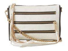 Rebecca Minkoff Mini 5 Zip (Black/White) Clutch Handbag
